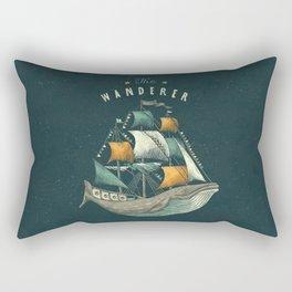Whale | Petrol Grey Rectangular Pillow