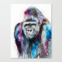 gorilla Canvas Prints featuring Gorilla by Slaveika Aladjova