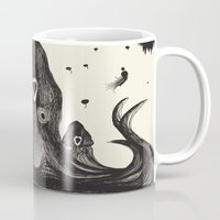 the neighbourhood Mugs featuring Your neighbourhood squid by IOSQ