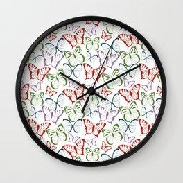 Butterflies 04 Wall Clock