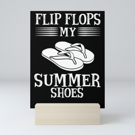 Flip flop summer shoes sun beach Mini Art Print