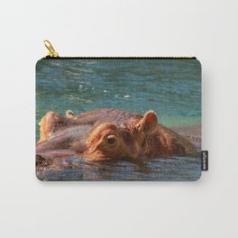 African hippo swimming in water Carry-All Pouch