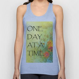 One Day at a Time (ODAT) Lilacs & Poppies Unisex Tank Top