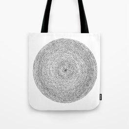 Full Moon Asemic Calligraphy for home decoration Tote Bag