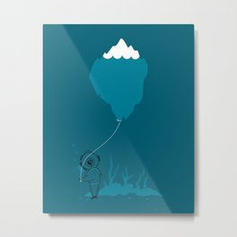 The Diver and his Balloon Metal Print