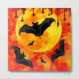 Bloody Full Moon Bats Metal Print