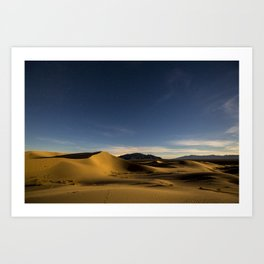 Sand Dunes & Night Sky Art Print