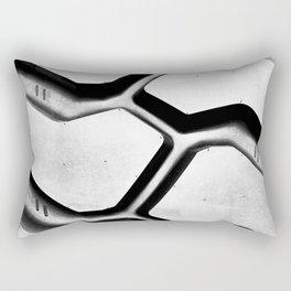 Black rubber tire background Rectangular Pillow