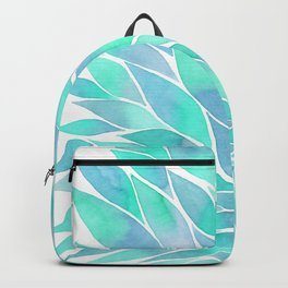 Blue watercolor feathers Backpack
