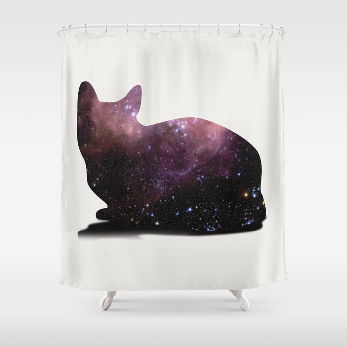 Willow The Galaxy Cat Shower Curtain By Allisone