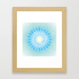 Lotus Flower Mandala Framed Art Print