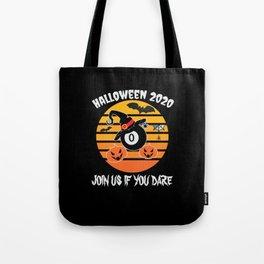 Halloween 2020 Pool Billiard Fun Pumpkin Tote Bag
