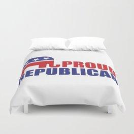 Proud Republican Elephant Design Duvet Cover