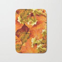 Fallen Autumn Leaves Bath Mat