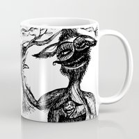 wild things Mugs featuring Wild Things by intermittentdreamscapes