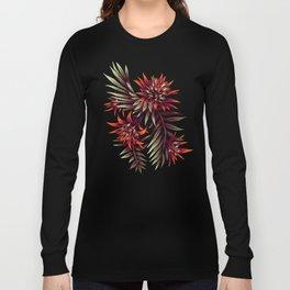 Aechmea Fasciata - Dark Orange / Purple Long Sleeve T-shirt