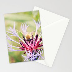 Spring Time Bumble Bee on a Purple Flower Stationery Cards