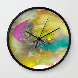 Planes in Watercolor Wall Clock