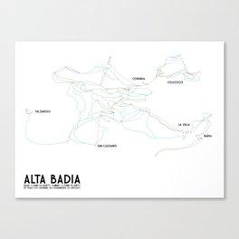 Alta Badia, ITA - NA (Labeled) - Minimalist Trail Art Canvas Print