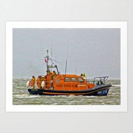 Hoylake Lifeboat (Digital Art) Art Print