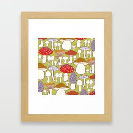 All my mushrooms Framed Art Print