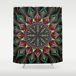 Super Star, fractal abstract Shower Curtain