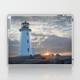 Sunrise at Peggys Cove Lighthouse in Nova Scotia Laptop & iPad Skin