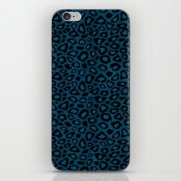Teal Leopard Animal Pattern iPhone Skin