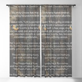 The TWO WOLVES CHEROKEE TALE Sheer Curtain