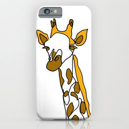 Giraffe in a line iPhone Case