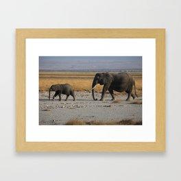 Kenia Elephants Framed Art Print