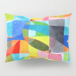 Grid with integrated Bizarre Shapes Pillow Sham