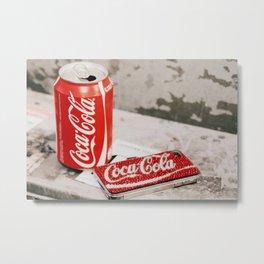 Get the coke! Metal Print
