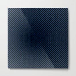 Black and Cool Black Polka Dots Metal Print
