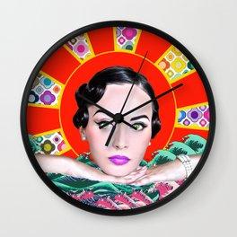 Idda Van Munster Pop Art Abstract Wall Clock
