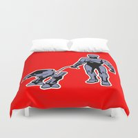 robocop Duvet Covers featuring Robocop by dutyfreak