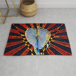 7824-KMA Abstract Nude Graphic Melting Buns Bum Butt Why Not Rug