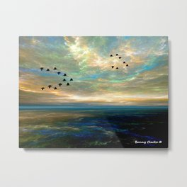 Sunset in the Refuge Metal Print