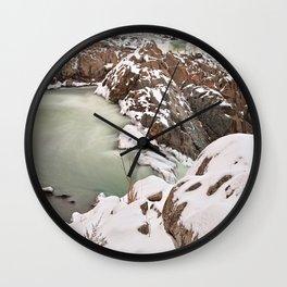Winter Jade Falls Wall Clock