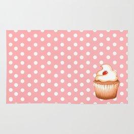 Cupcake and polka dots Rug