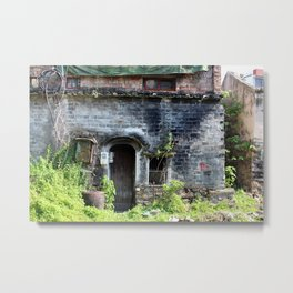 Front of an Old Chinese Home Metal Print