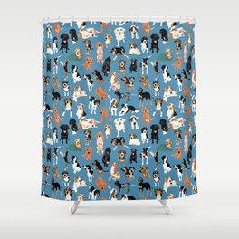 Hound District blue Shower Curtain