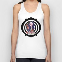 goth Tank Tops featuring Viola  goth by Silviacat