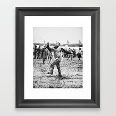 Mud and Techno Framed Art Print