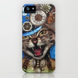 Miss. Steampunk Pussy iPhone Case