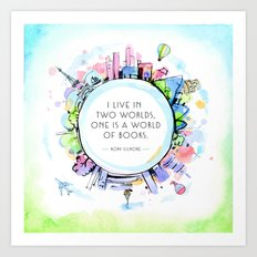 Rory Gilmore Bookish World Art Print