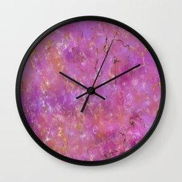 Pink & Purple Marble Wall Clock