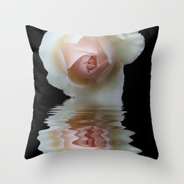 pale rose reflection Throw Pillow