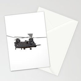 Military MH-47 Chinook Helicopter Stationery Cards