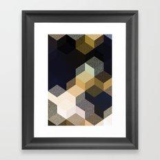CUBE 1 GOLD & BLACK Framed Art Print